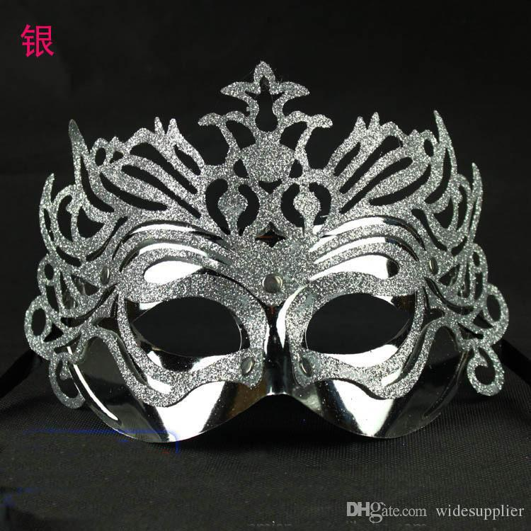 2015 Classic Halloween Mask Plating Crown Part Masks for Men and Women Fashion Mask for Halloween Christmas Cosplay Great Quality Mask