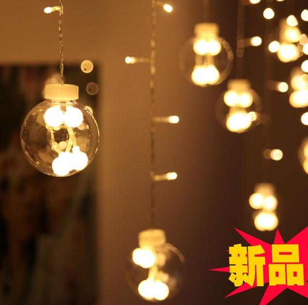 window decoration indoor decorative light dazzle colour flash 3M * 0.6M120 header of Europe type style LED lights series