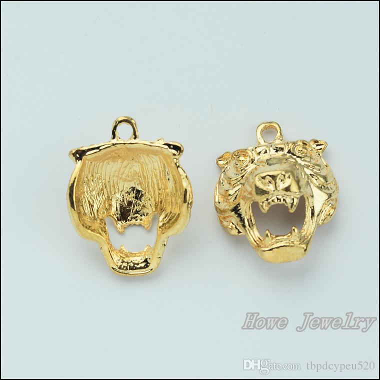 Moda Charms KC altın Tiger alaşım kolye Metal 25 adet 31 * 24mm JC-658 Bulma Bilezikler Kolye DIY Takı aksesuarları uyar