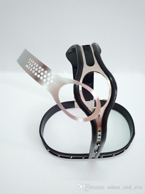 Cinturones de castidad de acero inoxidable con dispositivos de castidad ajustables modelo-T con vagina desmontable Juegos de sexo anal para parejas