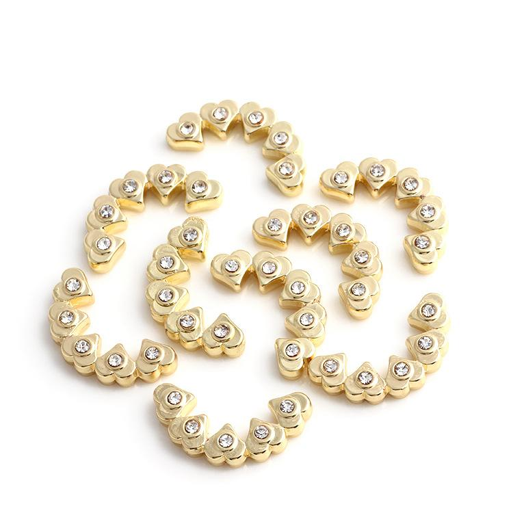 2017 Fashion styles white gold and gold charms Diamond Rhinestone Floating locket Accessories for DIY Lockets Pendants Necklace Jewelry