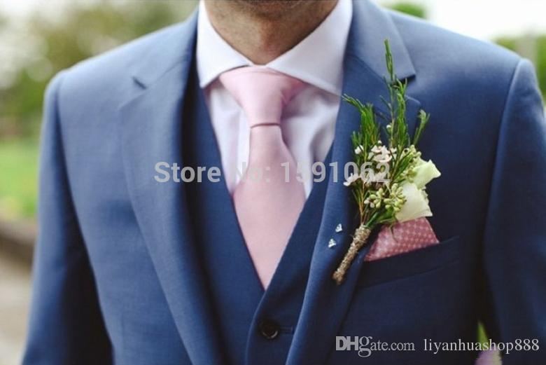 2015 куртка + брюки + жилет + галстук Смокинги для жениха высокого качества, тонкий синий, плюс размер, дружок с двумя кнопками, лучший мужик