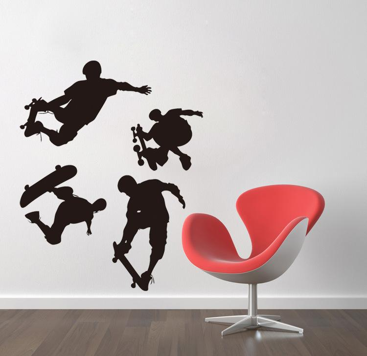 Hot Skating Surfing Wall Art Mural Decor Sports Wallpaper Decoration Decal Living Room Bedroom Shower Room Art Decal Sticker Poster