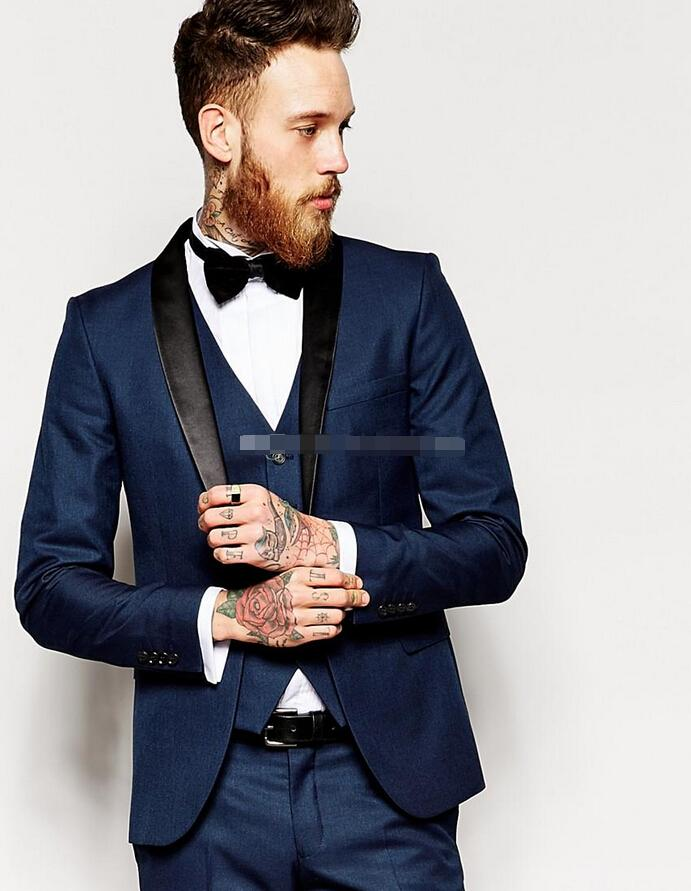 The Groom Suits Slim Fit Groom Tuxedos Shawl Collar Men'S Suit ...