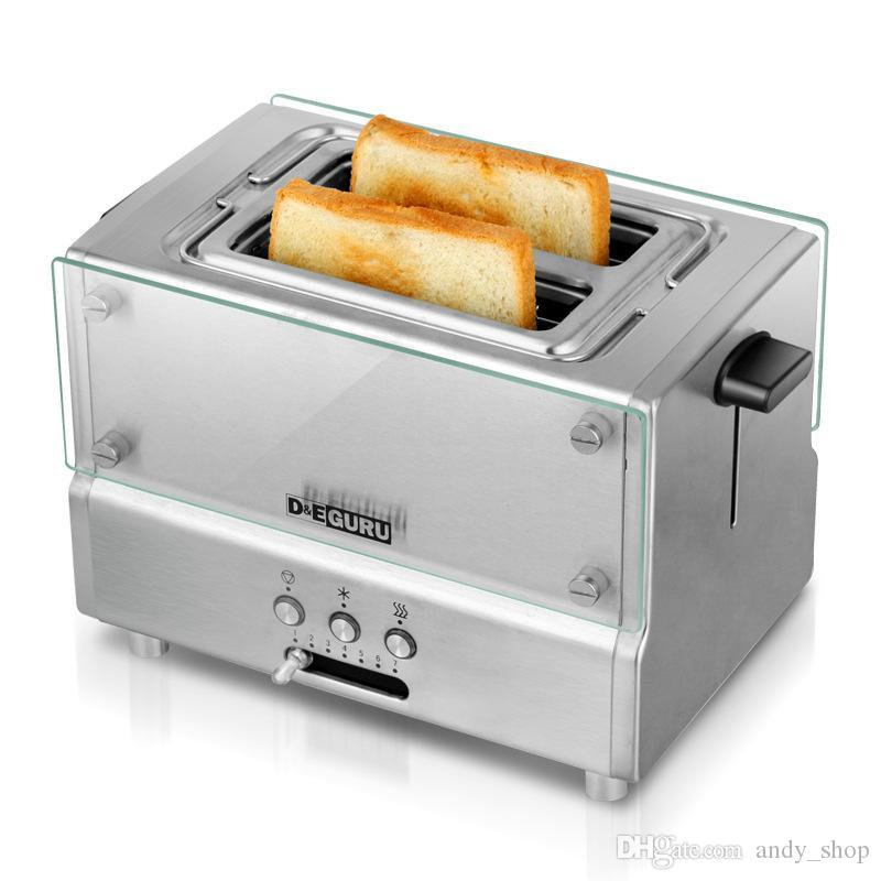 eeeddfcf047 2019 New Household Fully Automatic Toaster Stainless Steel With Grill Bread  Baking Machine Breakfast Machine EU Plug Good Quality From Andy shop