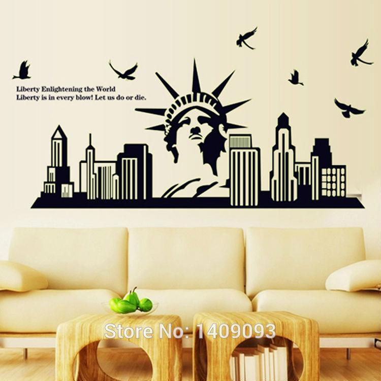 Good Home Decoration New York Statue Of Liberty Diy Luminous Sticker On The Wall  Adesivo De Parede Removable Vinilos Paredes Banksy Wall Stickers Bathroom  Wall ... Photo Gallery