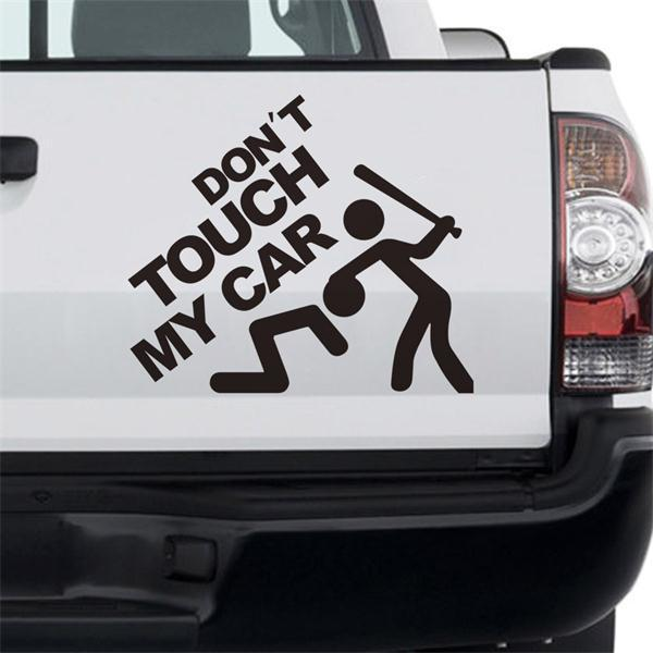 DonT Touch My Car Quote Stickers Kawaii Man Bit Adesivo De Parede - Stickers for the car