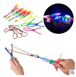 Christmas Gift Flash Copter with Slingshot Arrow Flare Glow Amazing Helicopter flying arrow disk