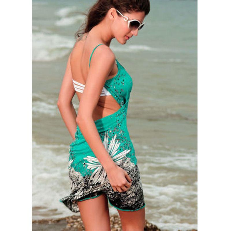 Sexy Damen Sommer Bademode Bikini vertuschen Strand Sarong Wickelkleid Damen Neu
