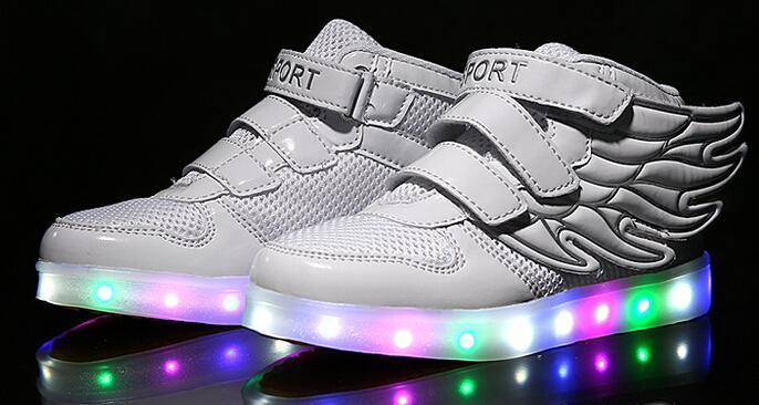 Children Shoes With Light Up Sneakers For Kids Luminous Sneakers Led Shoes  Girls Boys Light Shoes With Wings Size 25 37 S1129 Shoes Kids Online Kids  Shoe ...