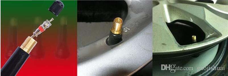 100 قطع tr414 لليطاسة السيارة دراجة عجلة الإطارات الإطارات المطاط الصمامات مع قبعات الغبار الأسود