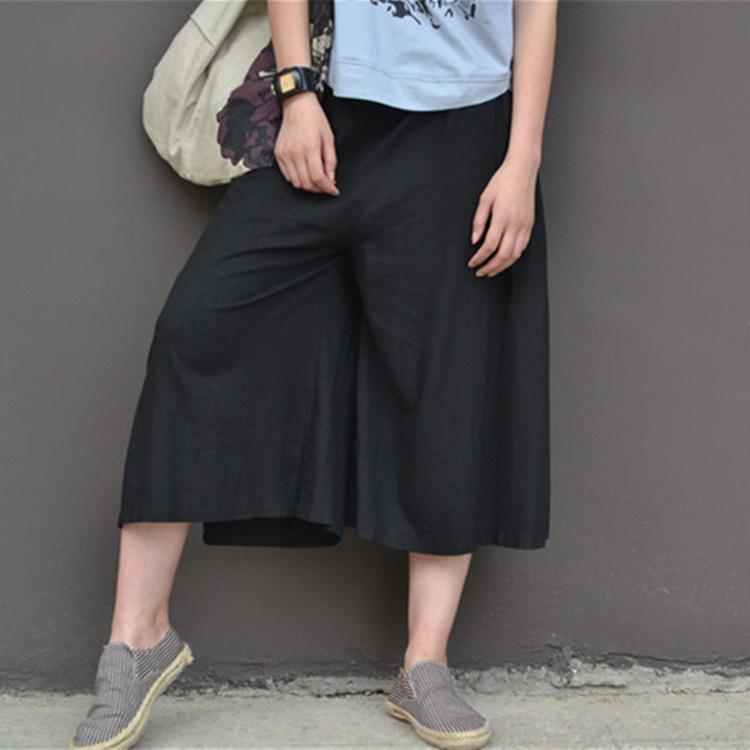 2018 korean version cotton linen women cropped pants 2016 summer