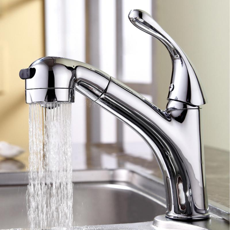Wholesale and retail Tensile basin faucet Hot and cold water tap The kitchen & bathroom faucet Pull out spray Mixer tap