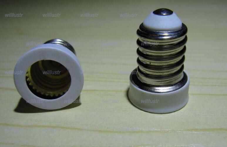 envío gratis E14 a E12 base de la lámpara convertidor Adaptador adaptador de bombilla Led lámpara halógena CFL bombilla