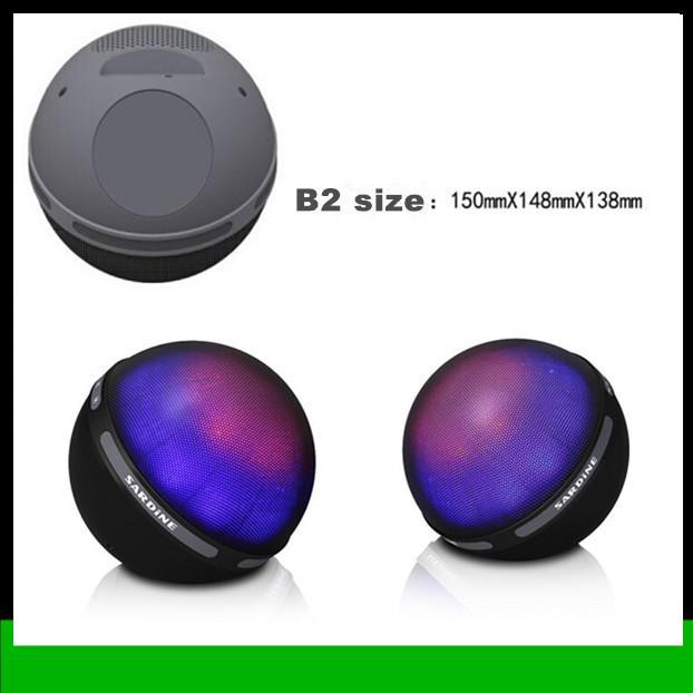 2018 sardine speaker tws b2 full color led bluetooth speakers with