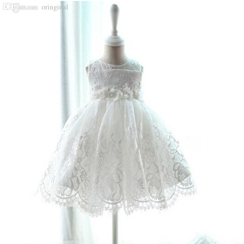 2018 Wholesale Lace Baby Girl Christening Gowns Dress, 1 Year ...