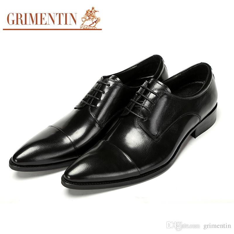 Man Soft Leather Slip On Business Puntato Toe Formale Shoes