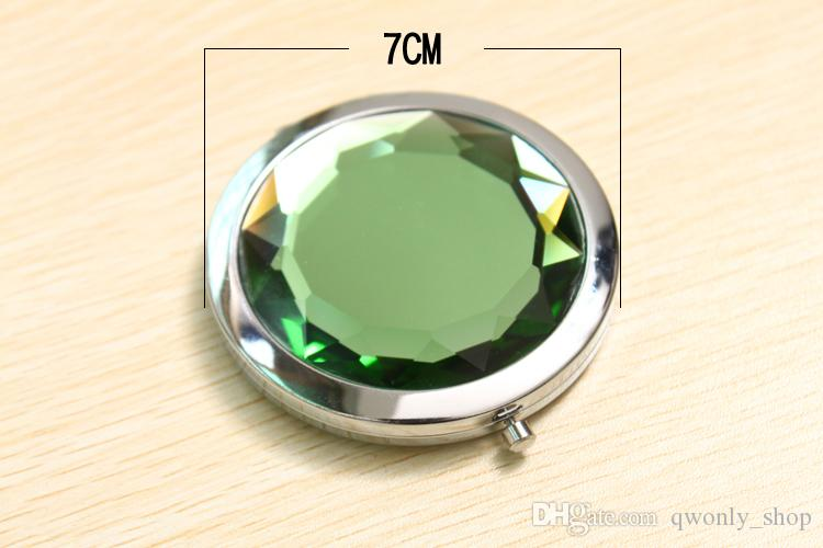 Cosmetic Pocket Compact Stainless Makeup Mirrors Travel Must+Nice Bag Fashion Cute Design Mirrors With gift Box