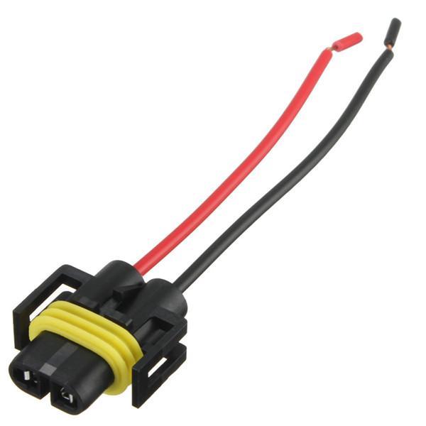 Nuevo H8 H11 Adaptador hembra Arnés de cableado Enchufe Auto Cable Conector Cable Enchufe Para HID Faros LED Faros antiniebla Lámpara bombilla orden $ 18no tra