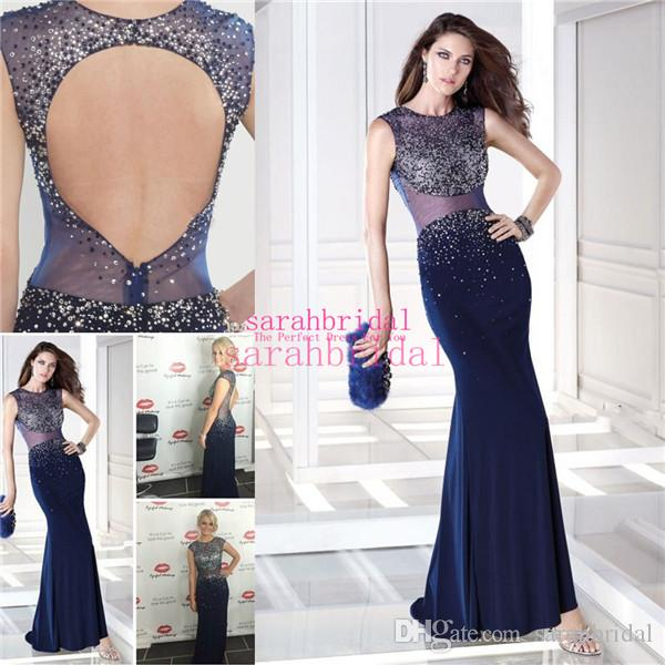 97ea467565 2015 Sexy Evening Gowns For Arabic Women Ladies Sale Cheap Custom Made Plus  Size Sequins Dark Navy Blue Backless Mermaid Prom Formal Dresses Ladies  Evening ...