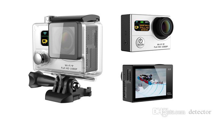 Eroe 4 Stile G3 Wifi macchina fotografica di azione Dual Screen 1080P FHD Sport DV DVR G3 30M impermeabile 170 Trasporto libero in tutto Angle 12MP DHL