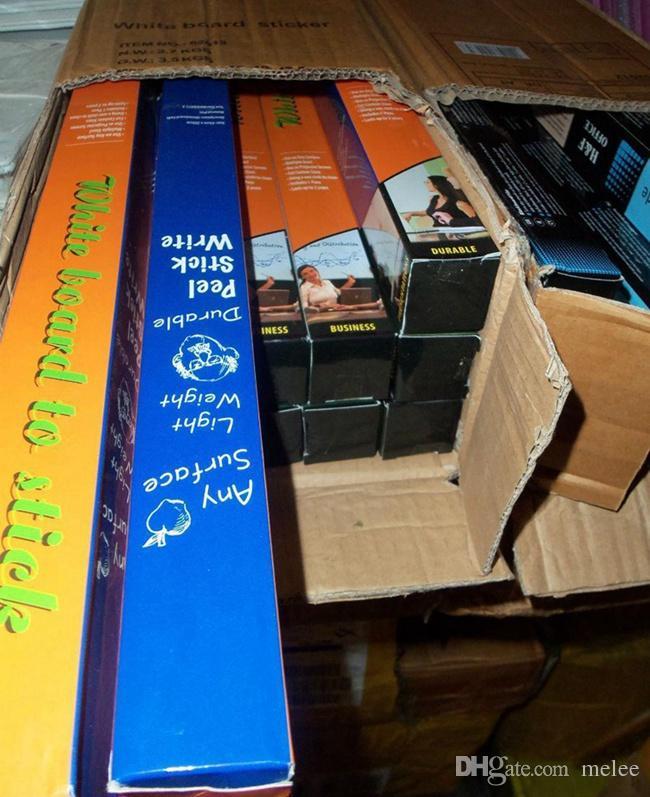 Gratuit Fedex Ship Populaire hot 45x200CM Amovible Blackboard Sticker Vinyle Ardoise Mur Autocollant Peinture Autocollant AVEC 5 CRAIE DE COULEUR