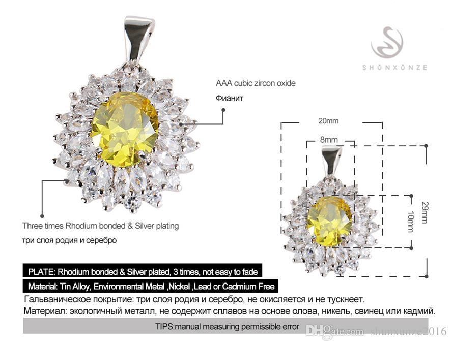 Erstklassige Produkte Jahrgang Noble Generous Hot MN460 schöne gelbe Zirkonia Rock Kupfer Rhodium plattiert Punk Promotion Anhänger