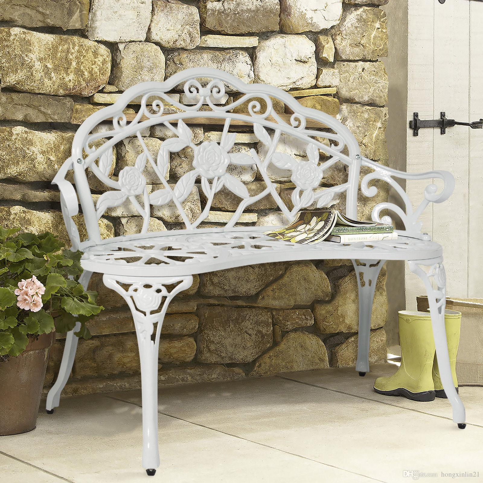 2019 BCP Outdoor Patio Garden Bench Park Yard Furniture Cast Iron