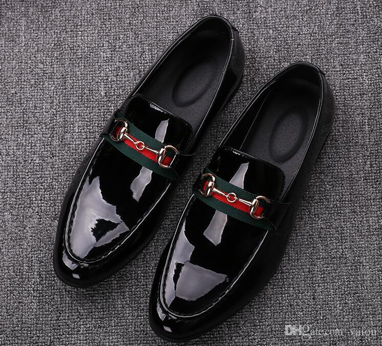 Moda masculina trendsetter negro blanco cómodo Oxford mocasines hombre vestido de boda Homecoming zapatos formales para hombre GG557