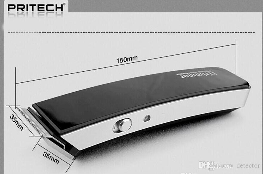 PRITECH الكهربائية المهنية قابلة للشحن التيتانيوم الشعر المتقلب للرجال اللحية mustanche المقص الطفل قص الشعر آلة الشعر المتقلب