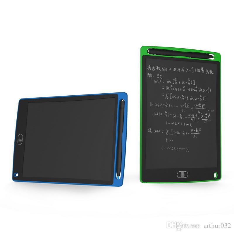 8.5 inç LCD yazma tableti çizim Kurulu Blackboard el yazısı pedleri hediye çocuklar için kağıtsız Not Defteri Tablet Memo ile yükseltilmiş kalem