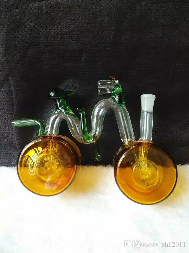 Classic transparent color Bicycle Hookah ,Wholesale Bongs Oil Burner Pipes Water Pipes Glass Pipe Oil Rigs Smoking