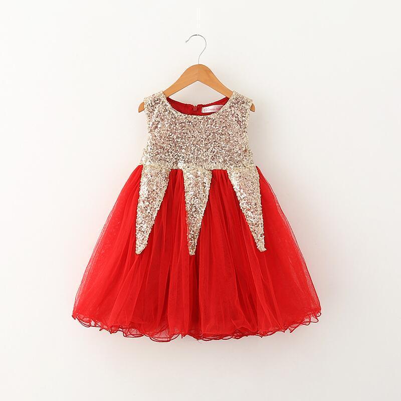 2018 christmas dress for baby girl flower dresses kids girl princess dress infant sequins dress toddler baby wedding party tulle dress girls from hhtoner - Christmas Dress For Girl