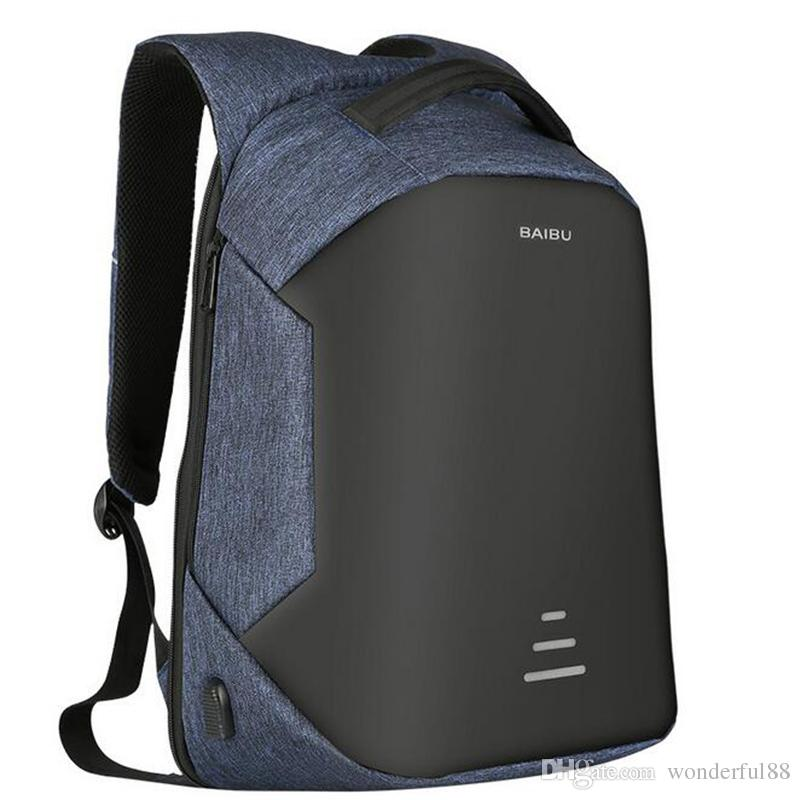 a4c63a880 2017 Urban Backpacks Men USB Charge Laptop Backpack Minimalist Fashion Anti  Theft Backpack Casual Mochila Waterproof Travel Bag Mochilas Jansport School  ...