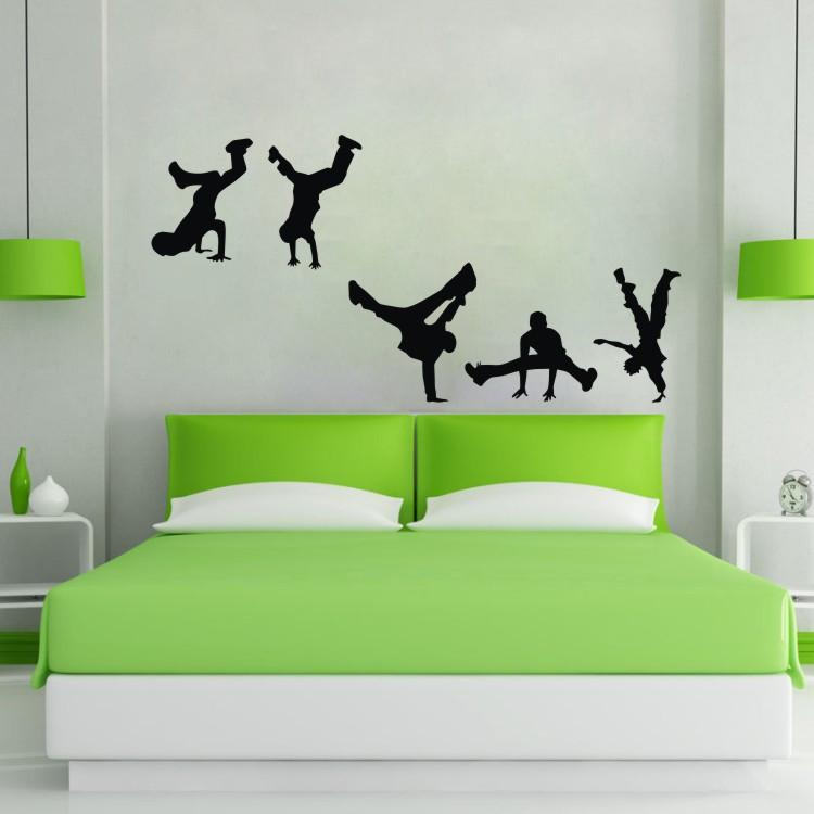 ColorfulHall Break Street Dance Wall Decal Dancer Wall Sticker Children Art baby Bedroom Wall Decor