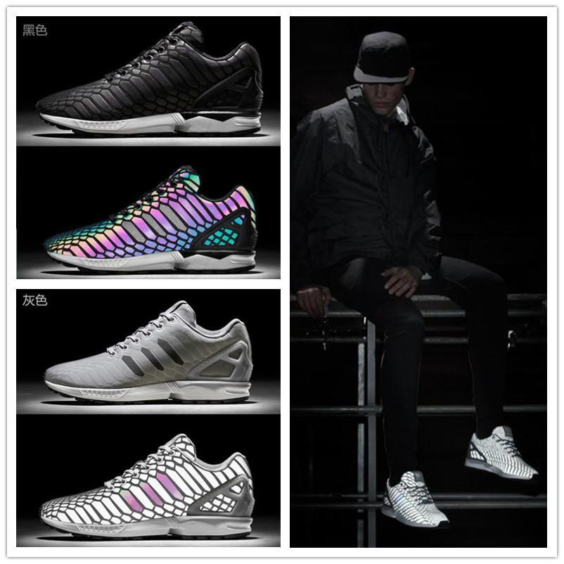 afa837802c4 2015 Men S Brand Shoes Chameleon ZX FLUX XENO New All Star 3M Reflective  Black Snake Casual Shoes Fluorescent Color Women Shoes36 44 East Bay Shoes  Shop ...