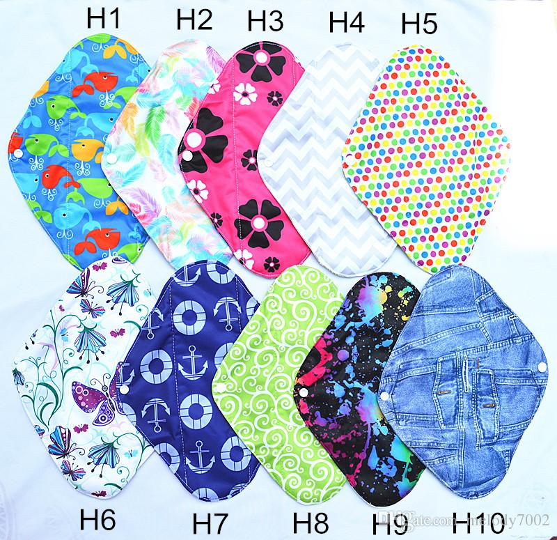 [Sigzagor]Heavy Flow Large L 12inch Reusable Washable Bamboo Cloth Pad,  Menstrual Sanitary Maternity Mama Soft,20 Designs