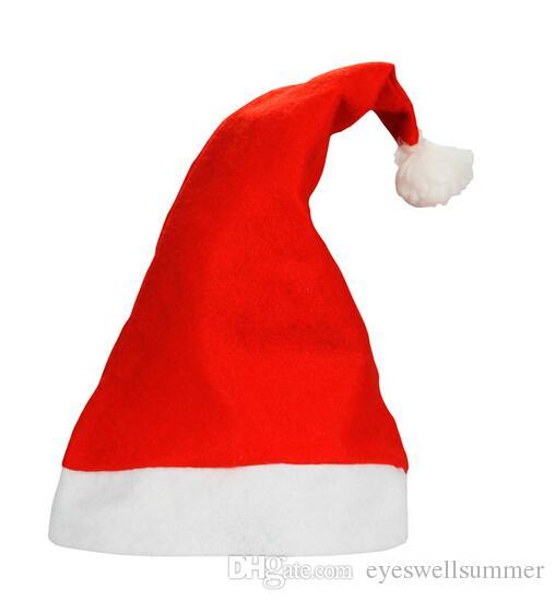 Weihnachten Hüte Rot Erwachsene Weihnachten Cosplay Hüte Neues Jahr Dekoration Weihnachtsdekoration Tuch Hüte Weihnachtsmann Navidad Caps Festival