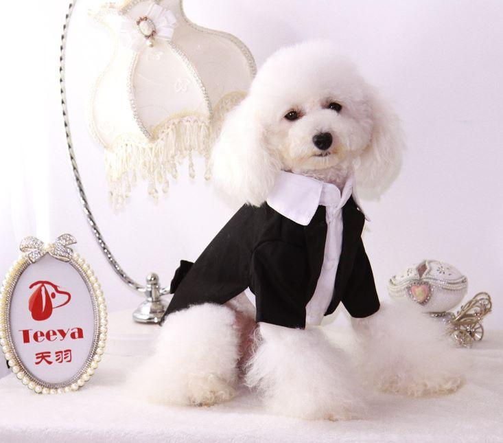 2018 Dog Wedding Dress Pet Dog Clothes Pet Puppy Dresses Teddy ...