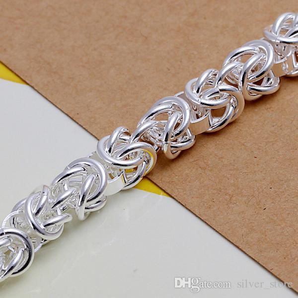 حار بيع أفضل هدية 925 silverleading الروبيان مشبك سوار DFMCH073، موضة جديدة 925 فضة مطلي سلسلة ربط أساور