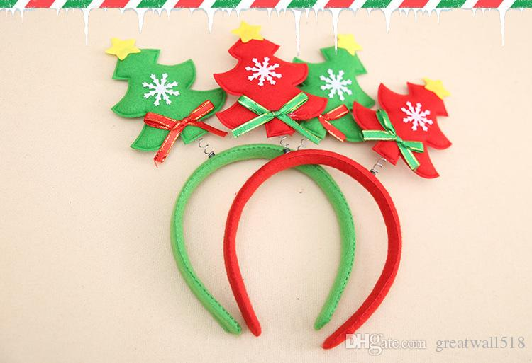 Christmas Headband For Adults.Women Girl Christmas Headband Lovely Tree Decoration Children Kids Festival Hair Band Cute Accessories Christmas Gift Hb035 Cheap Xmas Decorations