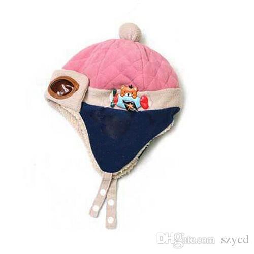 Toddlers Warm Flight Cap Hat Beanie Cool Baby Boy Girl Kids Infant Winter Pilot Aviator Cap