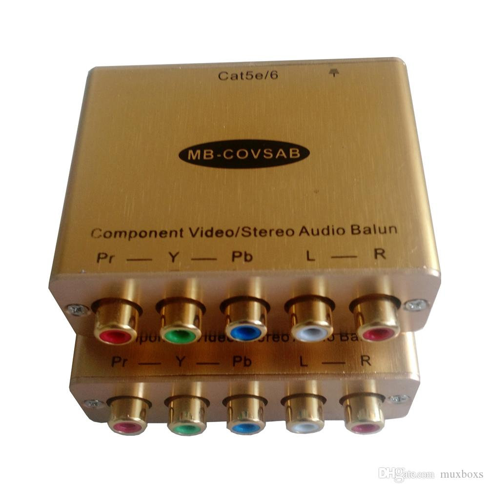 CAT5 Component Video-Stereo Audio Balun RCA AV Extender