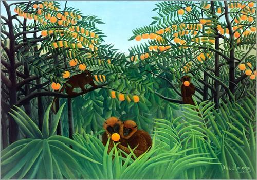 Image result for jungle painting rousseau