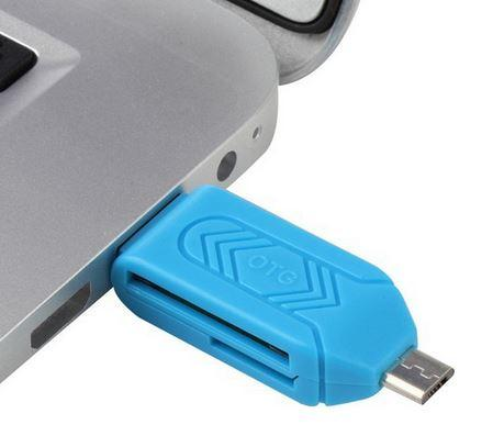 OTG SD TF Card Reader USB 2.0 + Micro USB 2 in 1 For PC Mobile Phone free DHL