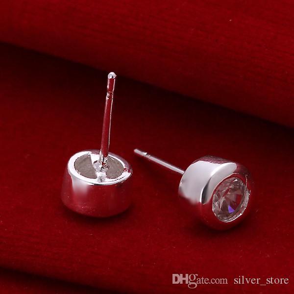 브랜드의 새로운 스털링 실버 플레이트 다이아몬드 스터드 귀걸이 DFMSE093, 여성 925 실버 매달려 샹들리에 귀걸이 10쌍 많은