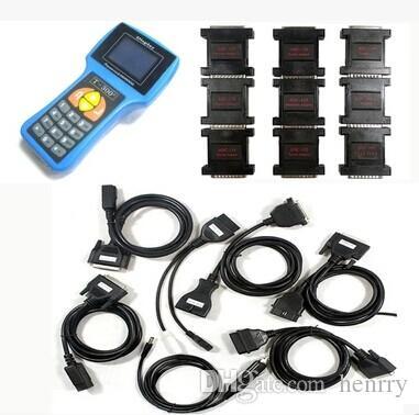 T300 Key Programmer V17.8 Ultima versione T 300 T-CODE Chiave transponder Chiave Strumento diagnostico automatico Colore nero blu Spagnolo Inglese Lingue