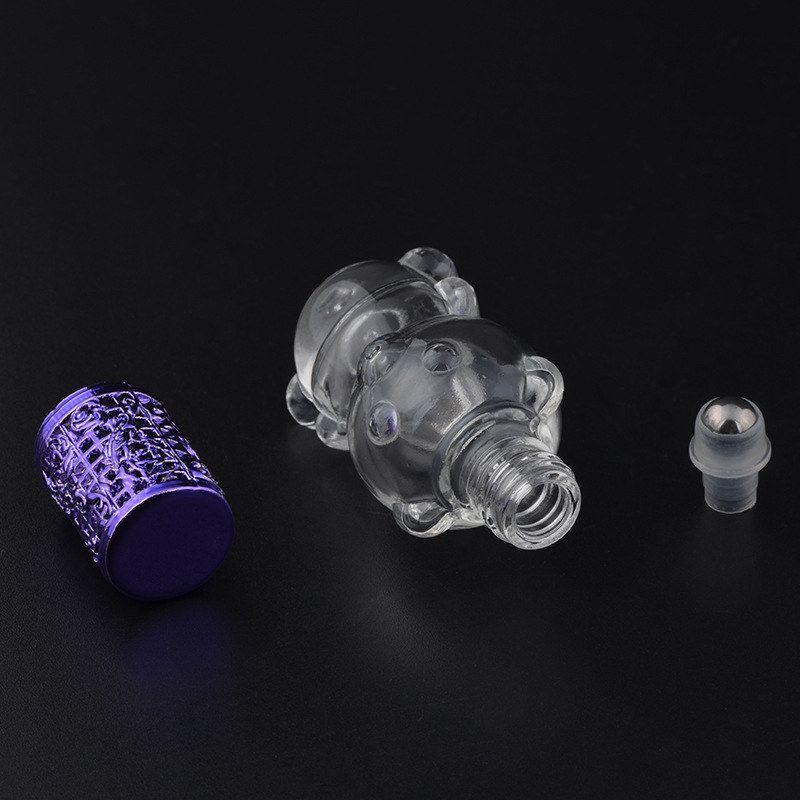 8 мл прекрасный маленький медведь металлический ролик мяч флакон духов высокого качества портативный многоразового использования духи бутылки масла F20172548
