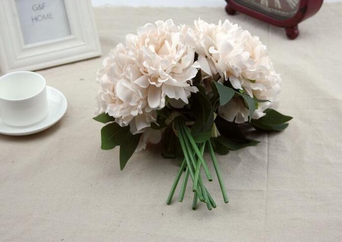 Ortanca buket Becautiful yapay zanaat ortanca buket ev Partisi düğün dekorasyon için sahte gelin Ipek çiçekler SF011