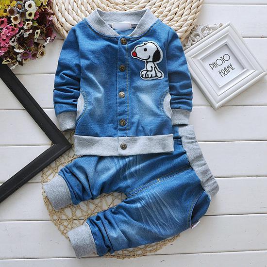 ffad4563c 2019 Boys Clothes Baby Boy Denim Clothing Sets Kids Long Sleeve ...